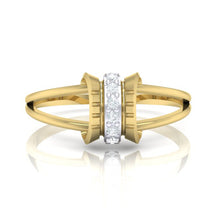 Load image into Gallery viewer, 18Kt gold real diamond ring 45(2) by diamtrendz