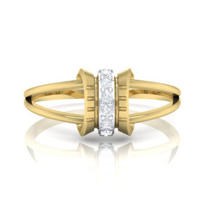 18Kt gold real diamond ring 45(2) by diamtrendz