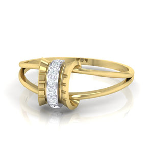 18Kt gold real diamond ring 45(3) by diamtrendz