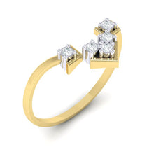 Load image into Gallery viewer, 18Kt gold real diamond ring 47(1) by diamtrendz