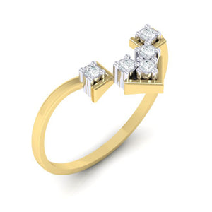 18Kt gold real diamond ring 47(1) by diamtrendz
