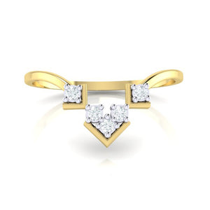 18Kt gold real diamond ring 47(2) by diamtrendz