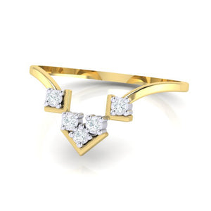 18Kt gold real diamond ring 47(3) by diamtrendz