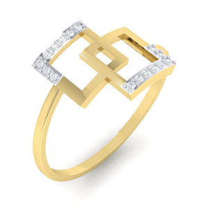 18Kt gold real diamond ring 48(1) by diamtrendz