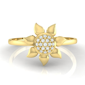 18Kt gold real diamond ring 50(2) by diamtrendz