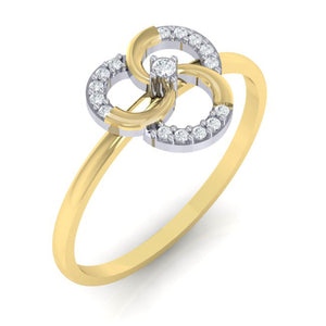 18Kt gold real diamond ring 51(1) by diamtrendz