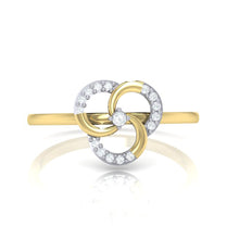 Load image into Gallery viewer, 18Kt gold real diamond ring 51(2) by diamtrendz