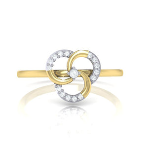 18Kt gold real diamond ring 51(2) by diamtrendz