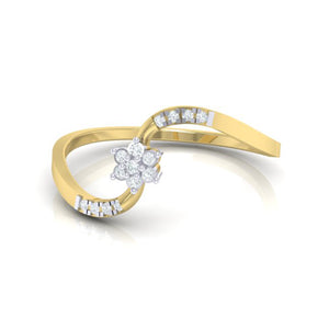 18Kt gold real diamond ring 53(3) by diamtrendz