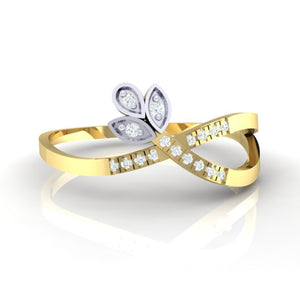 18Kt gold real diamond ring 54(2) by diamtrendz