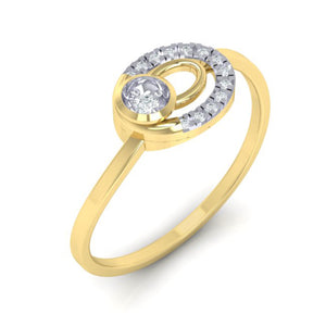 18Kt gold real diamond ring 55(1) by diamtrendz