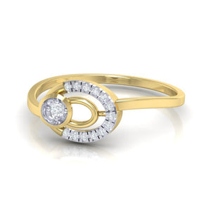 18Kt gold real diamond ring 55(3) by diamtrendz