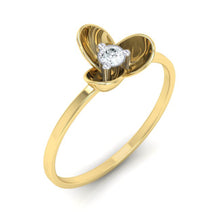 Load image into Gallery viewer, 18Kt gold real diamond ring 56(1) by diamtrendz