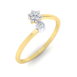 18Kt gold real diamond ring 57(1) by diamtrendz