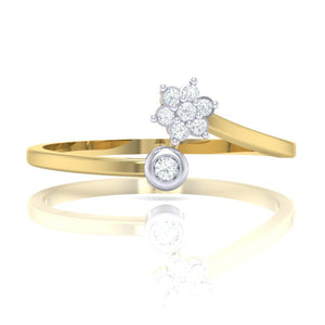 18Kt gold real diamond ring 57(2) by diamtrendz