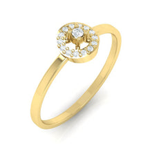 Load image into Gallery viewer, 18Kt gold solitaire diamond ring by diamtrendz