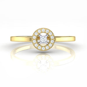18Kt gold solitaire diamond ring by diamtrendz