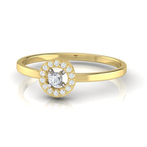 18Kt Gold Diamond Ring - Solitaire