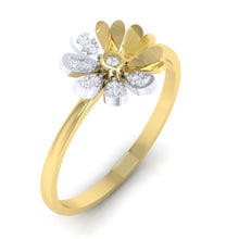 Load image into Gallery viewer, 18Kt Gold Diamond Ring - Floral