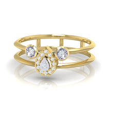 Load image into Gallery viewer, 18Kt gold pear diamond ring by diamtrendz