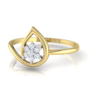 18Kt gold pear diamond ring by diamtrendz
