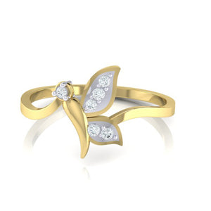18Kt gold real diamond ring by diamtrendz