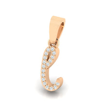 Load image into Gallery viewer, rose gold alphabet initial letter 'l' diamond pendant - 2