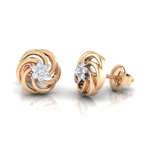 18Kt rose gold real diamond earring 10(3) by diamtrendz