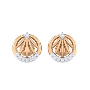18Kt rose gold real diamond earring 13(2) by diamtrendz