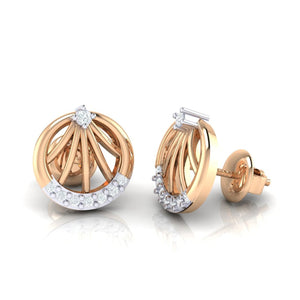 18Kt rose gold real diamond earring 13(3) by diamtrendz