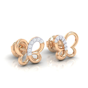 18Kt rose gold real diamond earring 14(1) by diamtrendz