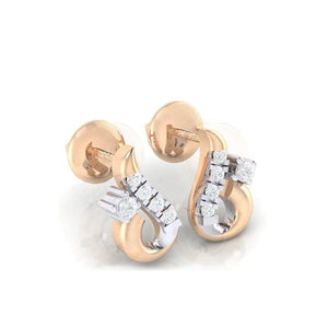 18Kt rose gold real diamond earring 16(1) by diamtrendz
