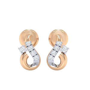 18Kt rose gold real diamond earring 16(2) by diamtrendz