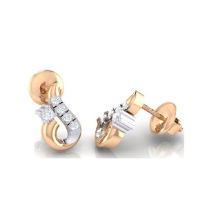 18Kt rose gold real diamond earring 16(3) by diamtrendz