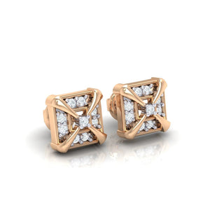 18Kt rose gold real diamond earring 17(1) by diamtrendz