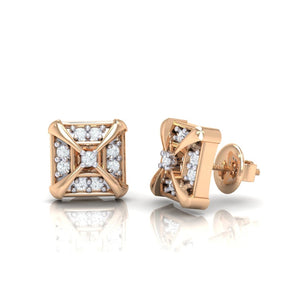 18Kt rose gold real diamond earring 17(3) by diamtrendz