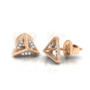 18Kt rose gold real diamond earring 18(3 by diamtrendz
