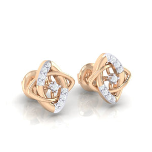 18Kt rose gold real diamond earring 19(1) by diamtrendz