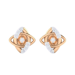 18Kt rose gold real diamond earring 19(2) by diamtrendz
