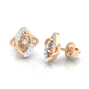 18Kt rose gold real diamond earring 19(3) by diamtrendz