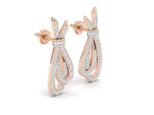 18Kt rose gold real diamond earring 1(1) by diamtrendz
