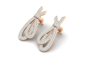 18Kt rose gold real diamond earring 1(2) by diamtrendz