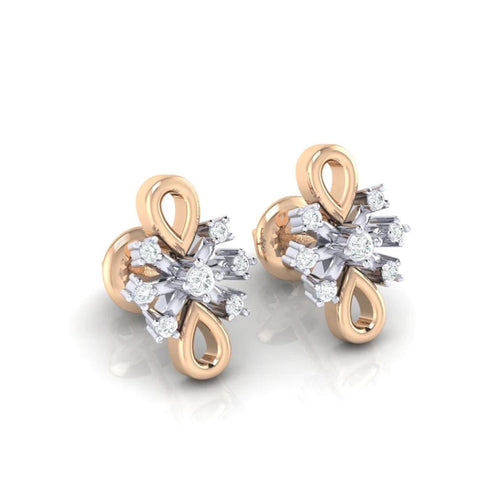 18Kt rose gold real diamond earring 20(1) by diamtrendz