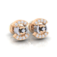 Load image into Gallery viewer, 18Kt rose gold real diamond earring 21(1) by diamtrendz