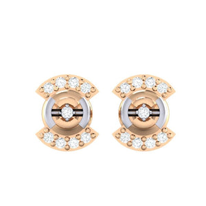 18Kt rose gold real diamond earring 21(2) by diamtrendz