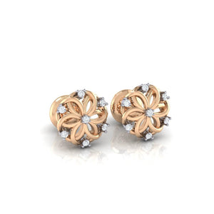 18Kt rose gold real diamond earring 22(1) by diamtrendz