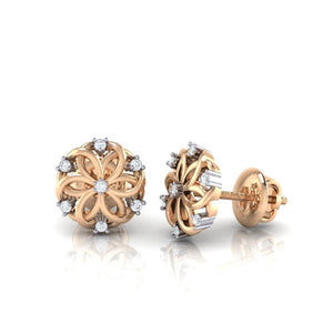 18Kt rose gold real diamond earring 22(3) by diamtrendz