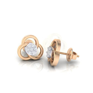 18Kt rose gold real diamond earring 23(3) by diamtrendz