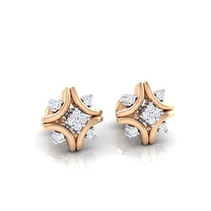 18Kt rose gold real diamond earring 24(1) by diamtrendz