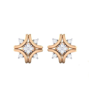18Kt rose gold real diamond earring 24(2) by diamtrendz
